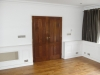 Double french polished mahogany doors