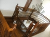 Mahogany french polished stairs