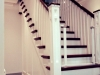 custom built stairs with french polised steps